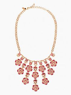 encrusted petals statement necklace