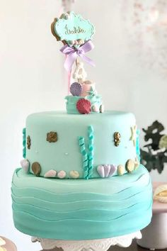 Take a look at this pretty underwater mermaid extravaganza! The birthday cake is so impressive! See more party ideas and share yours at CatchMyParty.com #catchmyparty #partyideas #mermaidparty #girlbirthdayparty #mermaidcake Mermaid Birthday Cakes, Mermaid Cakes, Girl Birthday, Mermaid Parties, Party, Fiesta Party, Receptions, Parties, Ballerina Baby Showers