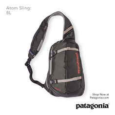 Atom Sling: 8L. An ergonomic and close-fitting sling that secures with a 3-point harness—the perfect companion for everyday adventures.