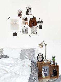 washi tape headboard photos