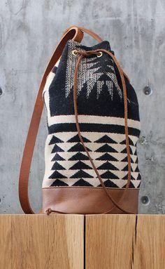 geometric bucket bag.