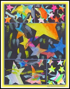 """photo of: """"Draw Me a Star"""" by Eric Carle (Paintings in Eric Carle RoundUP via RainbowsWithinReach) Kindergarten Art, Preschool Art, Class Art Projects, Group Projects, 2nd Grade Art, Second Grade, Link Art, Stars Craft, School Themes"""