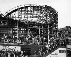 Belle Vue, Manchester, May 1946 The Bobs roller coaster ride This ride was sold to America in the early 70's