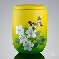 Urnen Individuell gestaltet | Kirschblüte EDITION Jahreszeiten Cremation Urns, Planter Pots, Home Decor, Urn, Cherries, Seasons Of The Year, Decoration Home, Room Decor, Interior Decorating