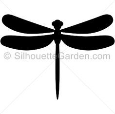 Dragonfly silhouette clip art. Download free versions of the image in EPS, JPG, PDF, PNG, and SVG formats at http://silhouettegarden.com/download/dragonfly-silhouette/