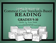 Common Core Reading Informational & Literature Graphic Organizers for grades 9-10 (also includes the grades 6-8 organizers) $