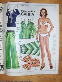 Carita, Finnish paper doll of Fabric Doll Pattern, Fabric Dolls, Good Old Times, Vintage Paper Dolls, Nostalgia, The Past, The Originals, Retro, Finland