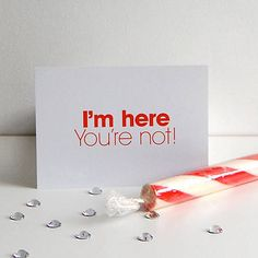 I'm Here You're Not Postcard — Polar
