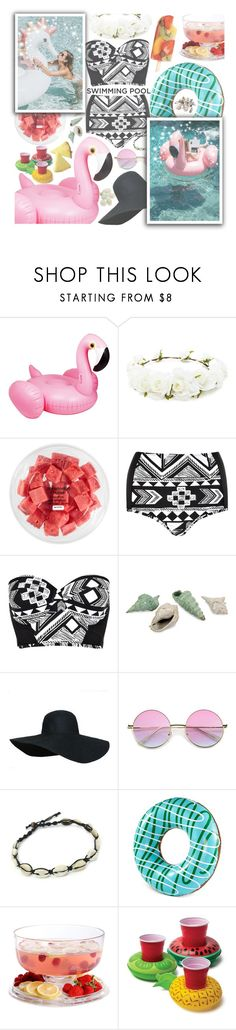 """Life is cool by the pool"" by xcuteniallx ❤ liked on Polyvore featuring Forever 21, FRUIT, River Island, Wembley and Gibson"