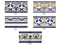 Camilù - Fasce 14x14 cm FS Azulejos Ceramica portoghese   dcasa.it
