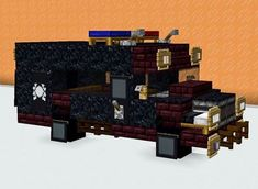 Minecraft Car, Minecraft Building Blueprints, Minecraft Survival, Minecraft Construction, Minecraft Ideas, Minecraft Architecture, Minecraft Buildings, Minecraft Floor Designs, Survival Project