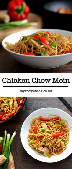 This chicken chow mein recipe is ready in under 25 minutes and is under 400 calories. It's like a takeaway but tastier and healthier! It also has just under two