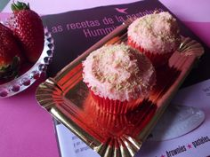Cupcakes de fresa. Strawberries Cupcakes.