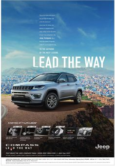 jeep-compass-lead-the-way--ad-times-of-india-bangalore. Check out more Car Advertisement Collection Car Advertising, Advertising Design, Car Banner, Customer Journey Mapping, Web Design, Design Ideas, Ad Car, Jeep Compass, Best Ads