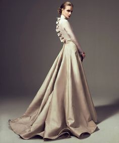 Black #Bows Details Gown | Grace Collection #Ashistudio Fall Winter 2014-2015. #Bow #Romantic #Couture