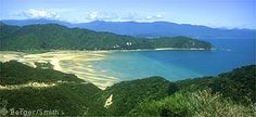 "Tasman Bay from the Abel Tasman track, a ""great walk"" in New Zealand http://www.buckettripper.com/hiking-the-abel-tasman-coast-track-on-new-zealands-south-island"