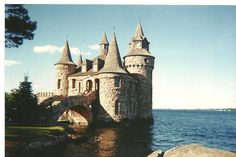 Castles, castles, castles... :) This one is called Boldt Castle and it is located in the 1000 islands- Kingston.