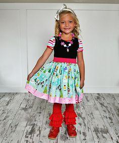 KPea Original Black Arctic Adventure Amy Dress - Infant, Toddler & Girls | zulily