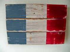 Distressed French Flag Wood Wall Hanging but have them do Italian Flag Etsy, $30.00