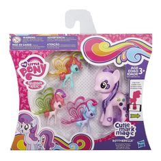 Buttonbelle, Rarity and Trixie Friendship Flutters Brushable Found | All About MLP Merch
