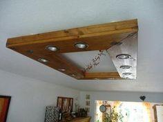 #Bauanleitung für #selbstgemachte #Deckenlampe aus Holz.