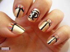 Egypt Style http://mariasnail.blogspot.nl/2013/07/178-nail-club-gold-and-silver.html
