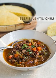 Beef and Lentil Chili | Kitchen Confidante