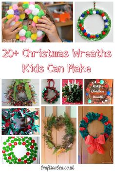 25 Fun and easy children's Christmas wreath ideas with crafts including paper plate wreaths, pom pom wreaths, natural materials and Christmas wreath ornaments. Christmas Activities For Toddlers, Toddler Christmas Gifts, Childrens Christmas, Christmas Crafts For Kids, All Things Christmas, Simple Christmas, Kids Christmas, Holiday Crafts, Christmas Wreaths
