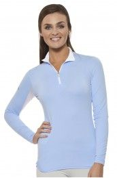 Kastel Denmark Charlotte Light Blue Zip Long Sleeve
