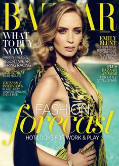 Emily Blunt, Harper's Bazaar Magazine [Australia] (November 2012)