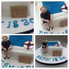 Lifeguard cake for Dean