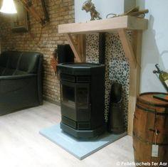 De Duroflame Batavia pelletkachel voor een mooie schouw Cottage Shabby Chic, Cottage Living Rooms, Narrowboat, Tiny Homes, Fireplaces, Stove, Projects To Try, Lounge, Indoor