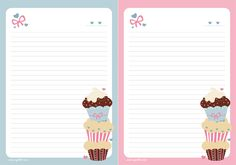 Cupcake paper to write