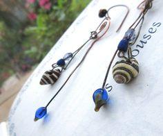 Des boucles d'oreille tribales : De Charmants par annemarietollet