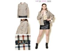 Hey, I found this really awesome Etsy listing at https://www.etsy.com/listing/281091902/plaid-jacket-women-clothing-button-down