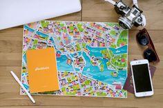 Regalos viajeros y originales para conquistar, como los pósters de Viena, Melbourne y Estocolmo de CITIx60 City Guide (A1 y A2, 64 $)