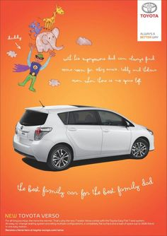 Toyota Verso: Superhero http://adsoftheworld.com/media/print/toyota_verso_superhero #toyota #advertising #cars