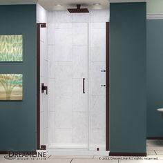 """Dreamline SHDR-4144720 Elegance 72"""" High x 46-1/2"""" Wide Pivot Frameless Shower D Oil Rubbed Bronze Showers Shower Doors Hinged"""