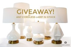 Battery Operated Table Lamps, Canadian Contests, Cordless Lamps, Modern Lanterns, November, Place Card Holders, Free Samples, Lighting, Giveaways