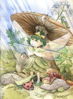 The Fairy Who Didn't Like Rain by asiapasek.deviantart.com on @DeviantArt