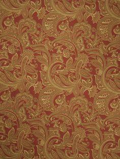 Cronus Paisley Cayenne - Fabricut