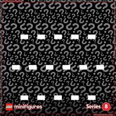LEGO Minifigures Series 8 Background for Ikea Ribba Frame