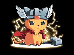 This Norse kitty is powerful, even if he can't hold the hammer with his tiny paws. Get the Thundercat t-shirt only at TeeTurtle!