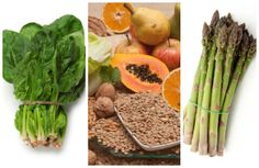 Folate rich foods include spinach, lentils, papaya, grapefruit, walnuts and asparagus.