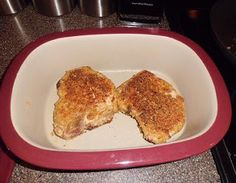 Low Carb Parmesan Ranch Breaded Pork Chops | Living Low Carb One Day At A Time