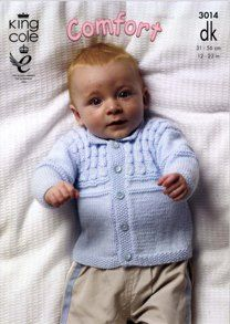 Sweater, Jacket and Slipover King Cole Comfort Baby DK - 3014