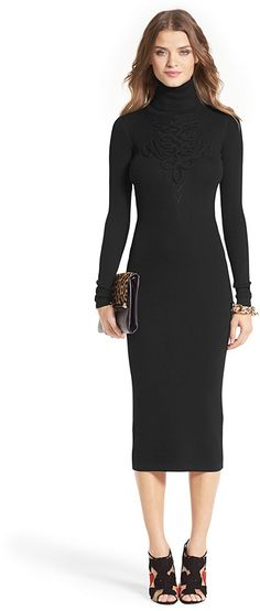 Knit Turtleneck Dress Is on sale now for -25 % ! Like the dress, don't dig the shoes. Sexy black knee high boots are a bootie maybe.