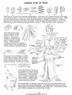 drawing tutorial for various types of folds Drawing Lessons, Drawing Techniques, Drawing Tips, Drawing Reference, Painting & Drawing, Fabric Drawing, Body Painting, Illustration Art, Illustrations