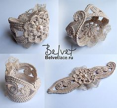 Crochet jewelry 670966044461559474 - Design & crochet lace by Victoria Belvet More Source by Crochet Jewelry Patterns, Crochet Accessories, Crochet Designs, Bracelet Patterns, Bracelet Crochet, Crochet Earrings, Freeform Crochet, Irish Crochet, Crochet Flowers