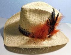 44f3001fb350f Vintage Resistol Stagecoach Zuni Self Comforming Feathered Cowboy Hat 6 7 8th   fashion